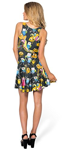 Stretchy Skater 86 Soojun Map Printed Clubwear Women's Sleeveless Dress Summer RxOfTwnt
