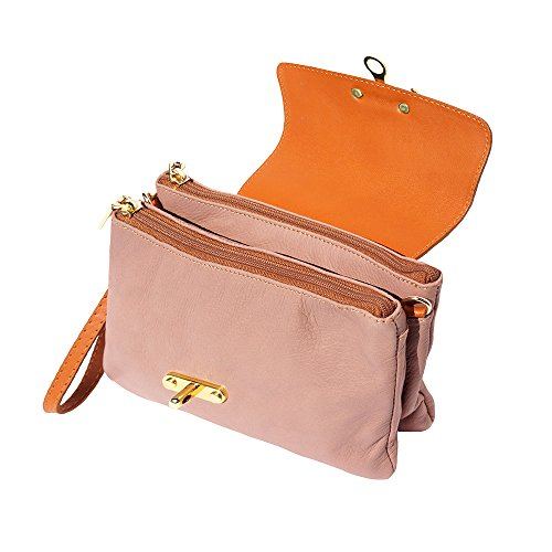 Véritable Rose Market 9601 Pochette Cuir Leather En Antique cognac Florence 0aIB4w6qyZ