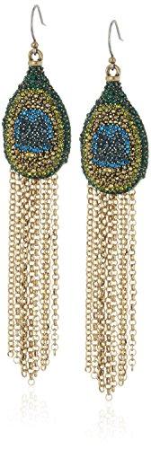 Lucky Brand Peacock Fringe Earrings product image