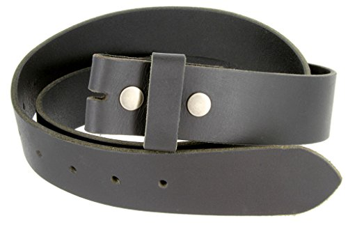 "Distressed Black Leather Belt Snap on Belt Strap 1.5"" Wide (40)"