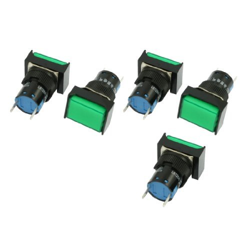 Rectangular Indicator Light - DealMux a12062600ux0233 Rectangular Cap Indicator Light Accident Signal Lamp, DC 24V, 5 Piece, Green