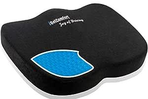 Sojoy iGelComfort Enhanced Multi-Use (Car/Truck/Office/Home/Outside) Gel Seat Cushion Memory Foam (Black) (18x14x3)