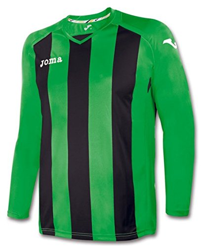 f7e3b6edce Amazon.com : JOMA PISA 12 GREEN-BLACK STRIPED SHIRT L/S XS-S ...