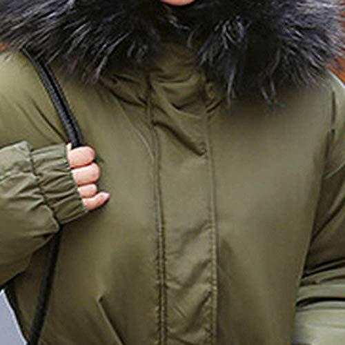 Taille Hiver Chaud Veste Zhrui Cheveux Armée Dames Outwear Verte Solide Décontractée coloré Manteau Slim Casual Épais Femmes Lammy Collier large X Survêtement qtv7Ht