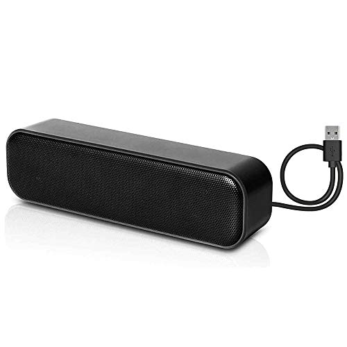 HONKYOB USB Computer Speakers,Laptop Speakers Wired USB Powered,Portable Mini Sound Bar PC Speakers for Windows PC,Desktop Computer,Laptops and Checkout Counter with Stereo Sound