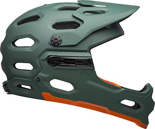 Bell Super 3R MIPS Adult MTB Bike Helmet (Matte Green/Orange (2019), Medium)