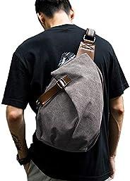Crossbody Sling Bag for Men Women, Sling Backpack One Strap Small Backpack for Men with Chest Strap,Shoulder C