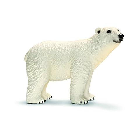 Schleich Polar Bear Toy (Dipinto A Mano Orso)