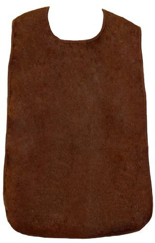 Adult Waterproof Bib, Brown, Frenchie Mini Couture
