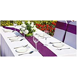 SPRINGROSE 60 x 102 Inch Commercial Grade Heavy Duty White Polyester Rectangle Tablecloths (Pack of 10).