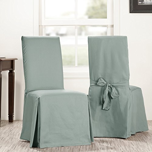 Half Slipcover (Half Price Drapes Prct-S14-CC-L-PR Solid Cotton Chair Covers (Sold As Pair), Jasper Stone)
