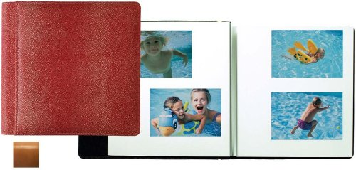 ROMA TAN smooth-grain leather #133 magnetic page album by Raika -
