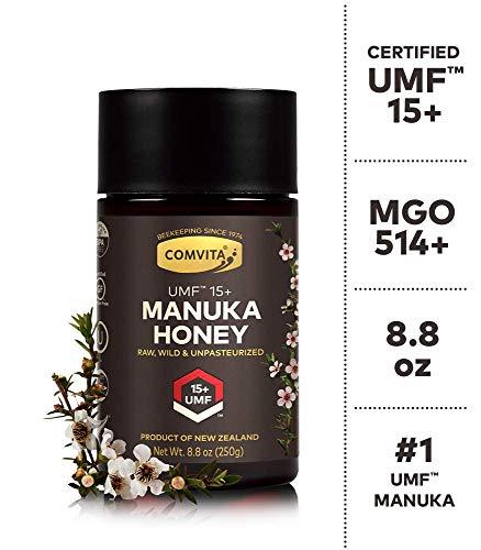 Comvita Certified UMF 15+ (MGO 514+) Raw Manuka Honey I New Zealand's #1 Manuka Brand I Authentic, Wild, Unpasteurized, Non-GMO Superfood I Super Premium Grade I 8.8 oz | Packaging May Vary