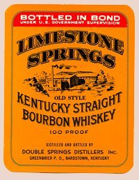 Double Springs Distillers Inc. - Kentucky Straight Bourbon Whisky - Set of 4 Labels - Two Different Designs (Ale Brew Distiller compare prices)
