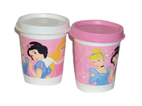 Tupperware Mini Midgets Disney Princess Tiny 2 Ounce Tumblers Pink