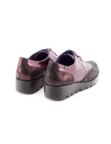 Callaghan 89813, Zapatos de Cordones Derby para Mujer GRANATE