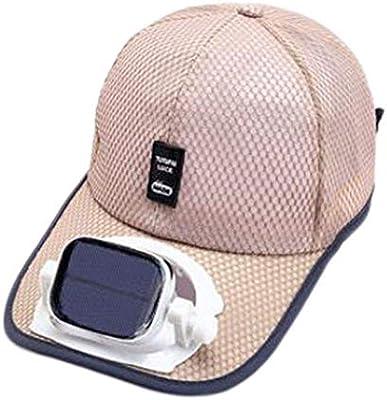 GG- fan cap Enfriamiento del Ventilador Sombrero de Beisbol Carga Dual USB Solar al Aire Libre Sombra Protector Solar Gorro de Viaje Deportivo, 5 Colores: Amazon.es: Hogar