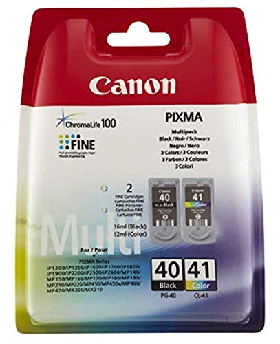 - 1 X Canon PG-40 CL-41 Ink Cartridge Set