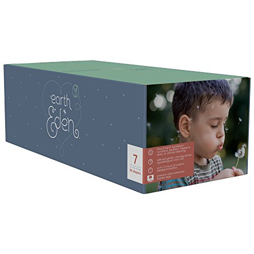 Earth + Eden Baby Diapers, Size 7, 80 Count