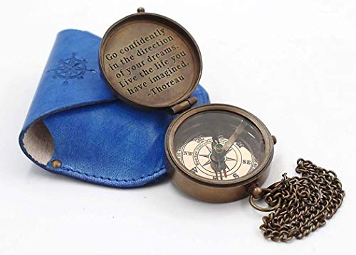 (Roorkee Instruments India Engraved Compass Directional Magnetic Pocket Personalized Gift for Camping, Hiking and Touring)