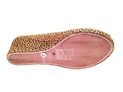 Lora Dora Womens Glitter Wedge Jelly Sandals Light Gold xasW0KTOIo
