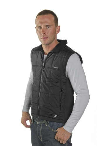 (Venture Heated Clothing Unisex Nylon Vest has a Low-Power Draw Making it The economical Alternative for Riders Looking to Keep Warm on Their Smaller Engine and Scooter Bikes)
