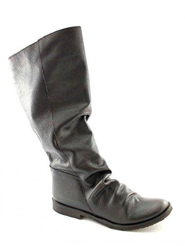 YA19 Black Divine Para Sole Woman Boot Nero Leather Madness Tube HBqxT4