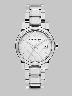 Burberry Watch, Women's Swiss Stainless Steel Bracelet 34mm BU9100