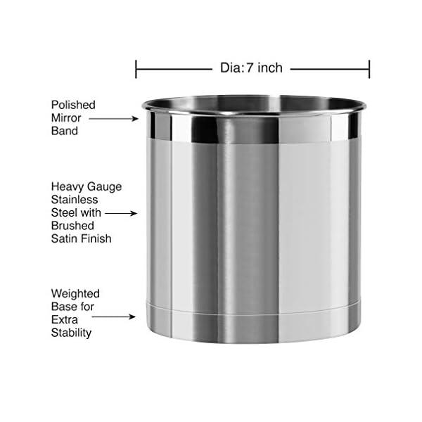 Oggi Jumbo Stainless Steel Utensil Holder 3