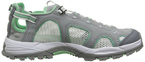 Salomon Womens Techamphibian 3 W Sandalo Light Onix / Bianco / Verde Lucite