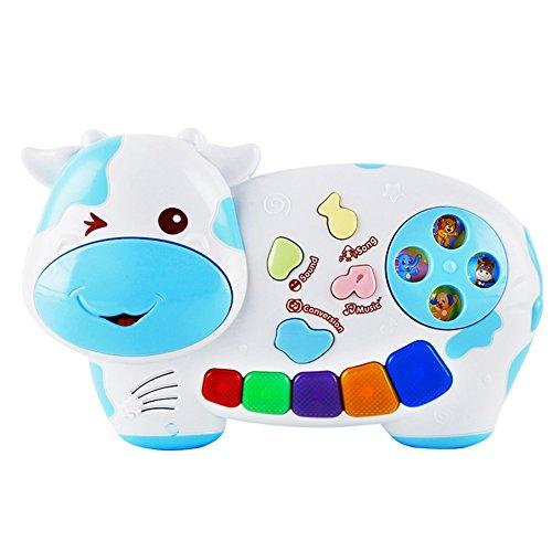 CYNDIE Children Cartoon Electronic Organ Keyboard Music Developmental Gift Educational Toys Random Color