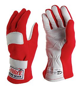 (G-Force 4100XSMRD G1 Red X-Small Junior Racing Gloves)