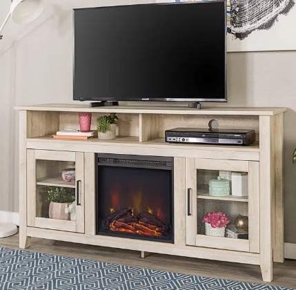 Cheap DesignTN- Entertainment Center with Fireplace-TV Console with Fireplace-White Oak-for TVs Up to 65 Inch-A Must-Have for Living Areas and Entertainment Spaces Black Friday & Cyber Monday 2019
