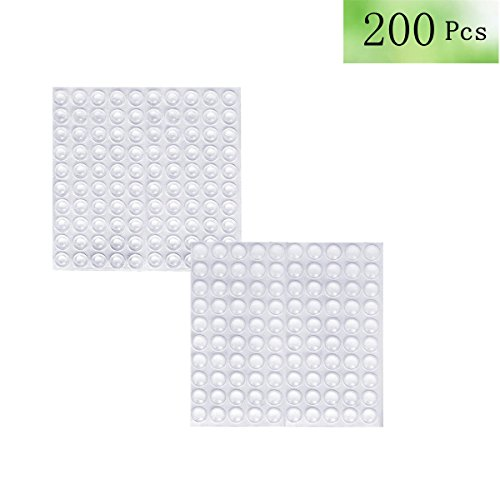 Cabinet Picture Frame - Clear Rubber Feet Adhesive Bumper Pads -200 Pcs for Cabinet Doors,Drawers,Glass Tops,Picture Frames,Cutting Boards Self Stick Bumpers Sound Dampening -MOZOALND