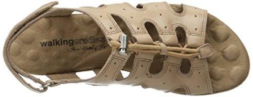Women Taupe Sandal Cradles Walking Harley Flat 5Rwxq51F