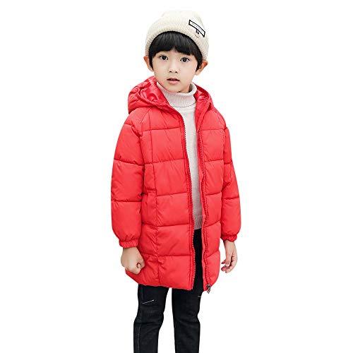 05712780c9be Unisex Winter cinnamou Jacke Rot Mantel Daunenjacke Dicke Oberbekleidung  Warme Mit Kinder Kleidung Mantel Lange Kapuze ...