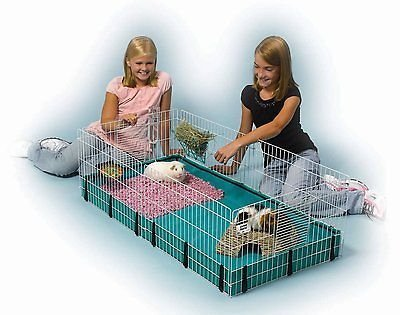 Midwest Homes for Pets Large Interactive Guinea Pig Hamster Cage Habitat