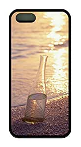 A bottle filled with Water On The Beach Case for IPhone 5c 5c Rubber Material Black