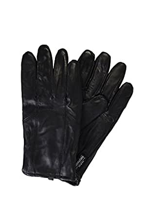 Black Leather Gloves Mens Thinsulate Lining Warm Driving Gloves XXL By DEBRA WEITZNER