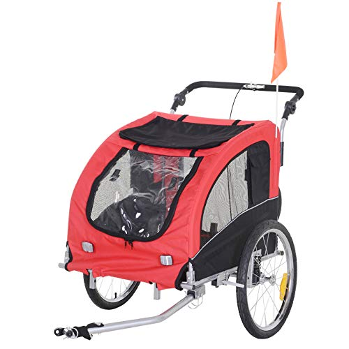Aosom Elite II Pet Dog Bike Bicycle Trailer Stroller Jogger with Suspension