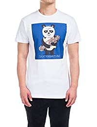 Men's T-Shirt Short Sleeve Graphic T Shirts White Cotton Crew Neck Tees