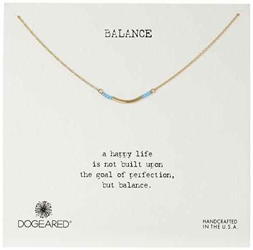 dogeared Balance avec de petites graines-Collier Femme-Turquoise, en or trempé