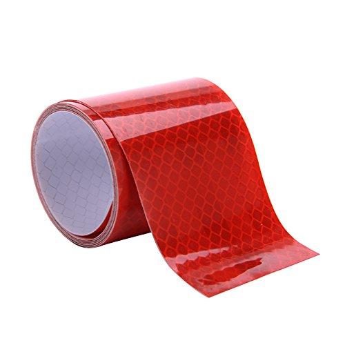 Ruban R/éfl/échissant Adh/ésif 1m//2m//3m//4m//5m,Bande R/éfl/échissante pour S/écurit/é Attention Marquage par sweetlife 1m X 5cm Orange