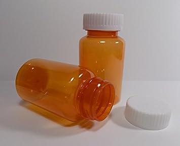 9fd9b06ae7a6 Amazon.com: Plastic Travel/Medical Screw-Top Packer Bottles Wide ...