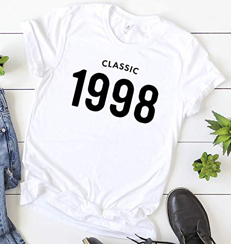 Personalized 21st Birthday T-shirt - 21st Birthday 1998 Classic T-Shirt Short Sleeve Personalized Gift for Men and Women 90s Tee Shirt