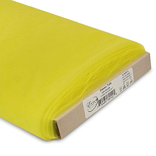 Expo International 54-Inch Classic Nylon Tulle Fabric, 25-Yard Bolt, Yellow