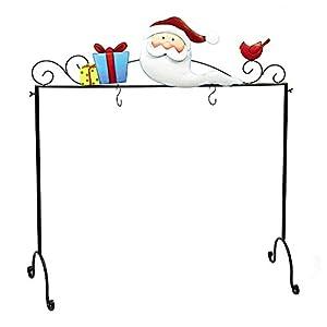nantucket home metal freestanding floor christmas stocking holder santa clause home. Black Bedroom Furniture Sets. Home Design Ideas