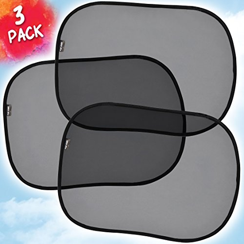 Car Window Shades For Baby, Sun Shade For Side Windows -3 Pack- Baby Sun Shades- Extra Large, Blocks 97% UV Rays