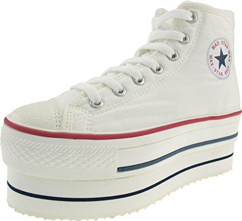 Tops Maxstar CN9 8H Damen Weiß Low Sneaker rq1PqwgX
