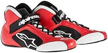 Red//White Alpinestars Mens Tech 1-K Karting Shoe 8